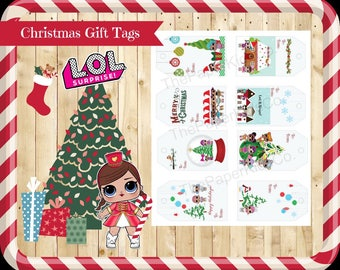L.O.L Surprise Dolls - Christmas Gift Tags - 8 Cute Designs! INSTANT DIGITAL DOWNLOAD