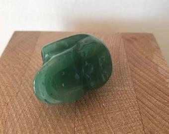 Jade jadeite vanity carved vanity memento mori skull