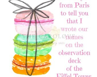 8x10 macaron digital print || The Ataris || Looking Back On Today || kitchen art