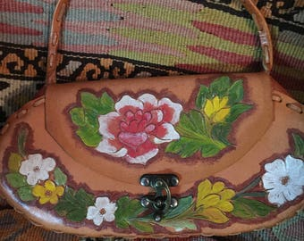 Vintage Mexican styled Handtooled leather purse