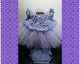 Crochet and Tulle Tutu set