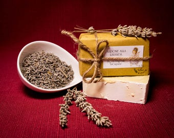 Lavender soap, natural, produced and hand-packaged