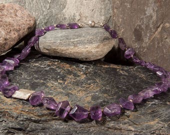Amethyst Necklace with 925 silver
