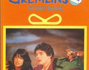 The GREMLINS Story Book Hardcover 1984 Oversize Golden Book