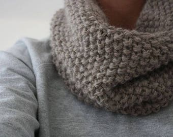 snood in MOSS stitch