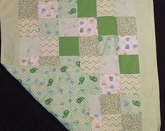 Green Whale Blanket 5