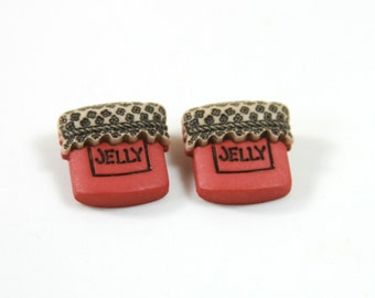 Jelly bottle studs, Jelly earrings, Bottle earrings, Bottle studs