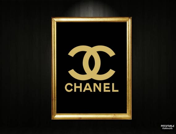 Chanel Sign Printable Gold Chanel Logo Gold Chanel Print