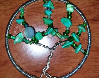 Green aventurine tree of life pendant