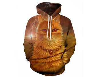Cat Hoodie, Cat, Cat Hoodies, Animal Prints, Animal Hoodie, Animal Hoodies, Cats, Hoodie Cat, Hoodie, 3d Hoodie, 3d Hoodies - Style 10