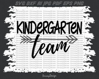 Kindergarten team svg, Teacher Team svg, Kindergarten svg, SVG Dxf EPS Png Jpg Vector Art, Clipart, Cut Print File Cricut & Silhouette Decal