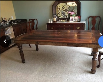 Beautiful Rustic Thick Spindle Leg Table