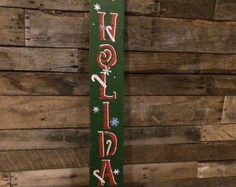 Holiday Pallet sign, New Years Pallet sign,Two sided sign,Double sided sign,Christmas sign,Holiday sign