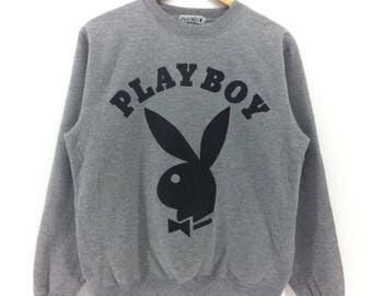 Vintage Playboy Sweatshirt Big Logo Medium Size Retro 90's Fashion Rap Tees Hip Hop