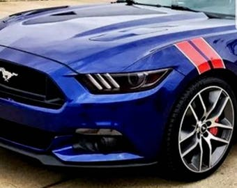 2015 2016 2017 2018 Ford Mustang Front Fender Hash Marks Stripes