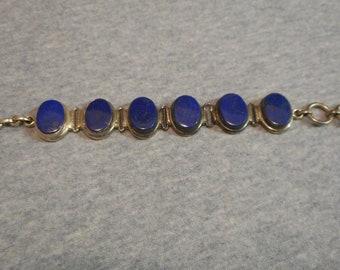 Lapis Lazuli and sterling silver bracelet. lapis jewelry, sterling silver and lapis bracelet, lapis lazuli, sterling silver