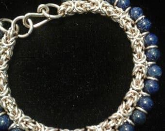 Gold Lapis Lazuli Bracelet