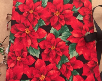 Poinsettia Soft Cover Christmas Junk Journal