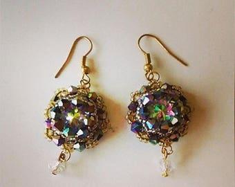 Χειροποίητα σκουλαρίκια με χάντρες - Beaded handmade earrings