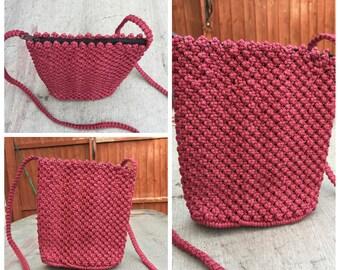 Macramé hand woven sling bag