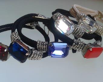 Low cord bracelet with Rhinestones