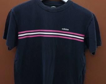 Vintage Adidas Minimalist Logo T-Shirt Sport Swag Rap Hip Hop Top Tee Size S
