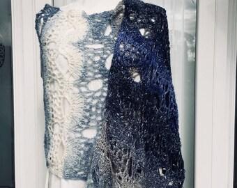 Crocheted Lace Shawl/Wrap
