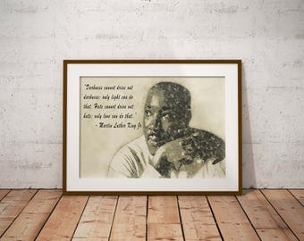 Martin Luther King Jr. poster, quote, I have a dream, MLK, Art, wall art, decor