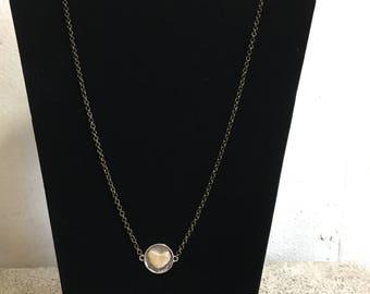 Bone Heart Necklace