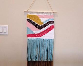 Large weaved wall hanging