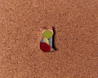 Origami Cat Hat Pin