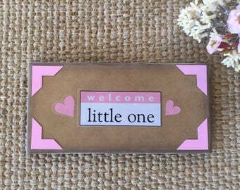 Welcome little one/Nursery decor/Nursery baby girl/Baby gift/Nursery small sign/Baby shower/Free Easel with sign