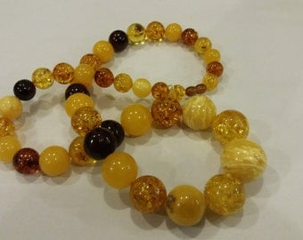 138g Baltic white BUTTERSCOTCH AMBER necklace
