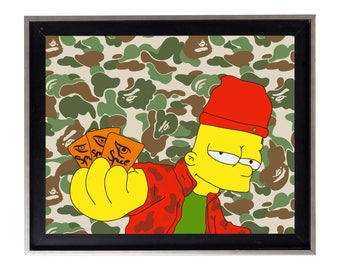 Bape x Bart Simpson Poster or Art Print (a bathing ape)