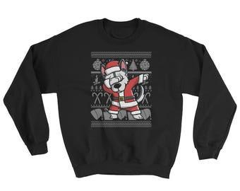 Funny Dabbing Siberian Husky Ugly Christmas Sweater Cute Dog Gift