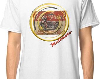 Inished Productions Ride Free inspired classic retro bespoke urban Motorcycle art T-Shirt Melimoto