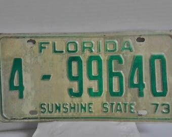 1973 Florida License Plate
