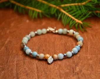 Amazonite gemstone bracelet, amazonite bracelet mala, yoga amazonite bracelet, amazonite mala bracelet, amazonite meditation bracelet