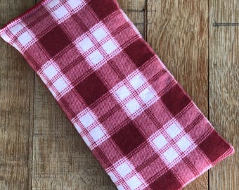 Gift for Boy - Red Plaid Flannel - Microwave Heating Pad - Heat Pack - Lavender Hot Pack - Peppermint Hot Pad - Aromatherapy Gift - Ice Pad