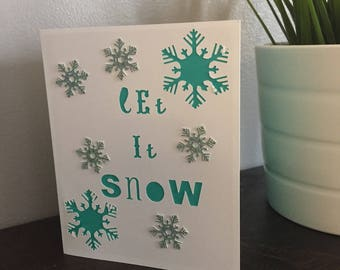 Handmade Let it Snow Card