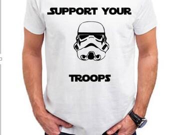 men's tshirts/women's tshirts/star wars shirts/star wars gifts/shirts with sayings/storm trooper shirt/men's t-shirts/troop shirt