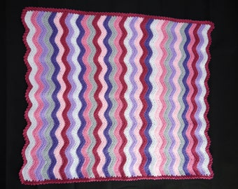 Hand made Crochet Baby Blanket (83cm x 70cm / 33inches x 27inches approx)