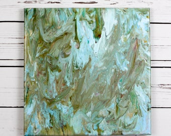 Fluid Art Original Painted Canvas