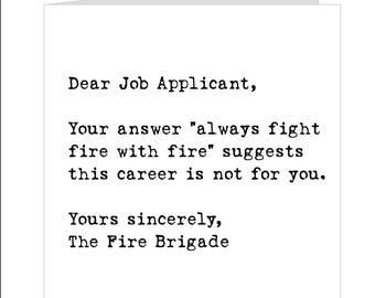 Job Application Card, General Card, Blank Card, Congratulations On Your New  Job Card
