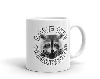 Raccoon Mug, raccoon gift, coffee love, funny coffee mug, coffee mugs, raccoon lover, trash panda, animal mug, coffee cup,raccoon coffee mug