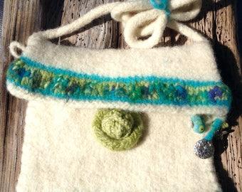 Wool felted purse