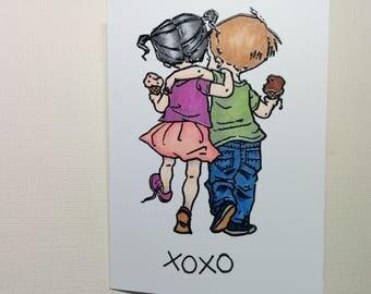 Summer Love Valentine Card