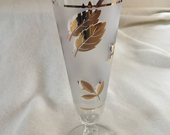 """Pilsner Glass (8 1/2) from Libbey's """"Golden Foliage"""" Pattern"""