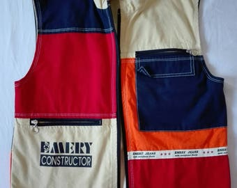 Emery Colourful Jean Sleeveless Jacket