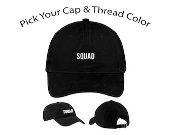Squad Dad Cap, Squad Dad Hat, Dad Cap, Dad Hat, Funny Hat, Cap, Hat, Cap Daddy
